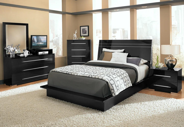 Dimora 7-Piece Queen Panel Bedroom Set With Media Dresser