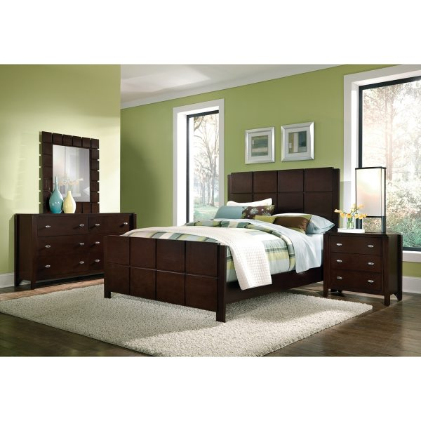 Mosaic 6-Piece Queen Bedroom Set - Dark Brown | American ...
