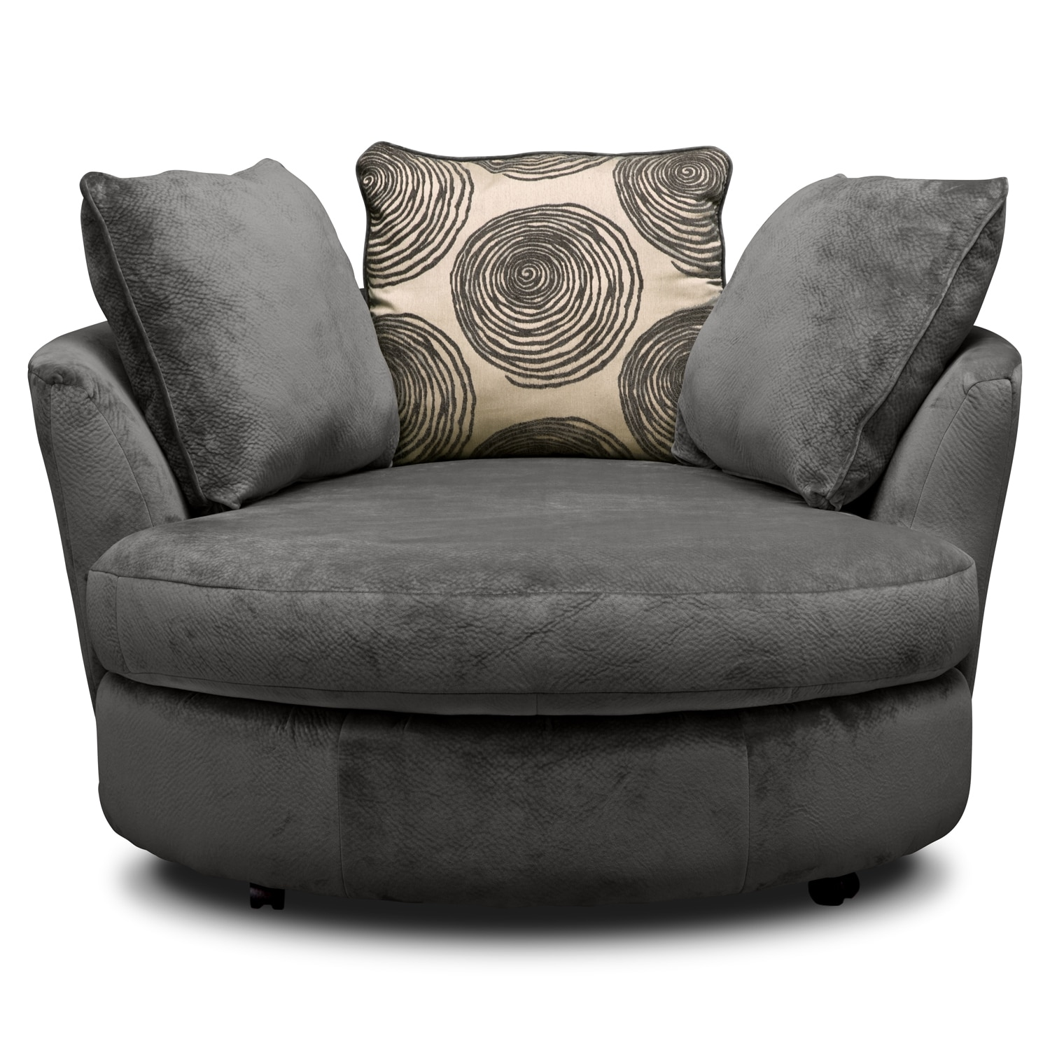 Cordoba Gray Upholstery Swivel Chair