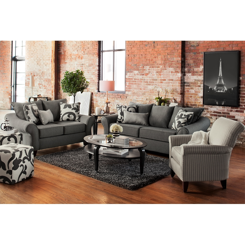 Colette Sofa Gray Value City Furniture