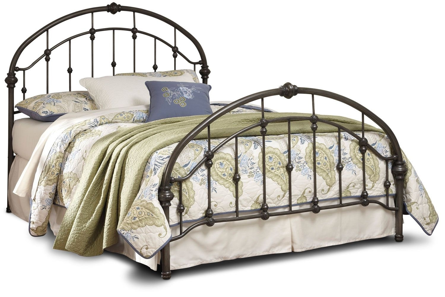 Nashburg Queen Metal Bed – Bronze