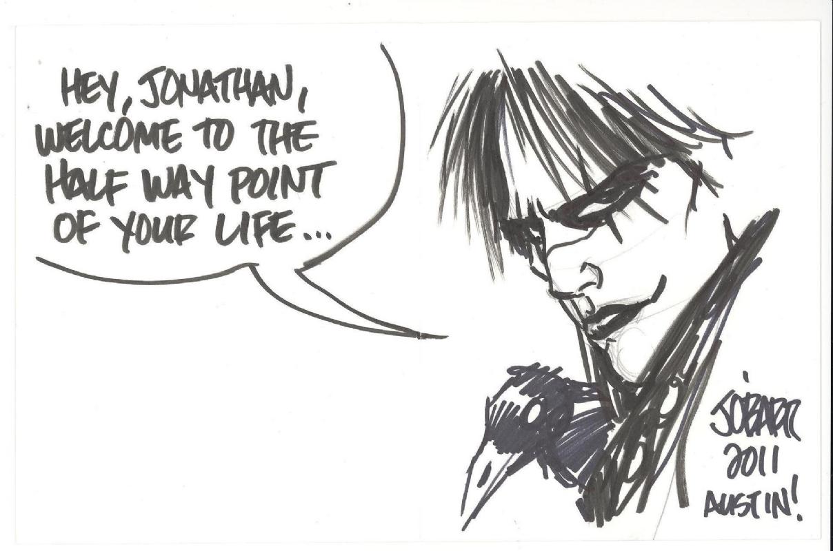 James O Barr The Crow Custom Birthday Card In Aka Rick S Super Hero Dudes Comic Art Gallery Room