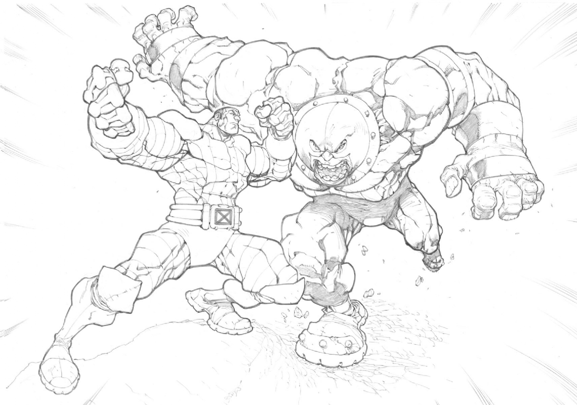 Colossus Vs Juggernaut Commission In Paul Hovey S