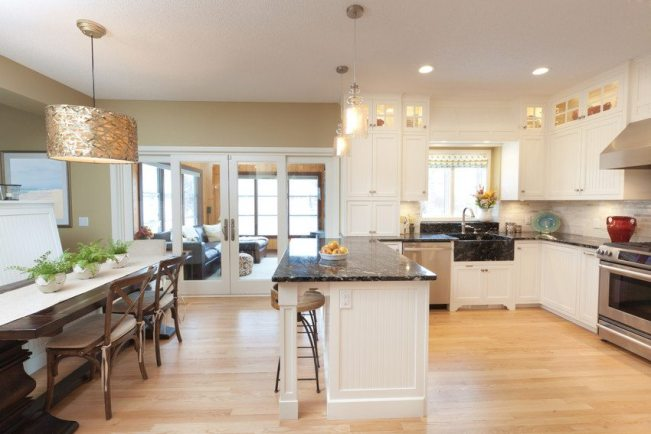 kitchen with open floor plan