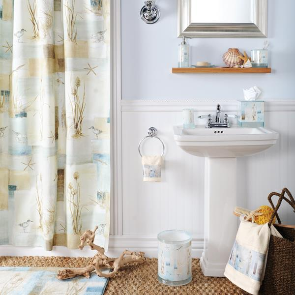 Blue Waters Shower Curtain Towels Bathroom Accessories