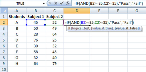 Combining IF function with AND function