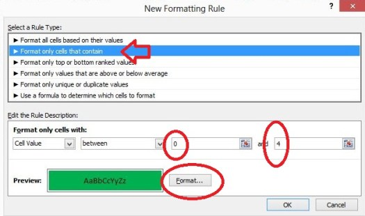 using conditional formatting to filter webmaster tools data