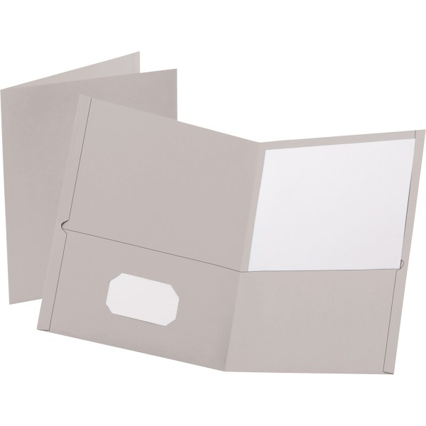 Power Surge Technologies Ltd     Office Supplies    Filing Supplies     Oxford Twin Pocket Letter size Folders   Letter   8 1 2  x 11  Sheet Size    100 Sheet Capacity   2 Internal Pocket s    Leatherette Paper   Gray    Recycled