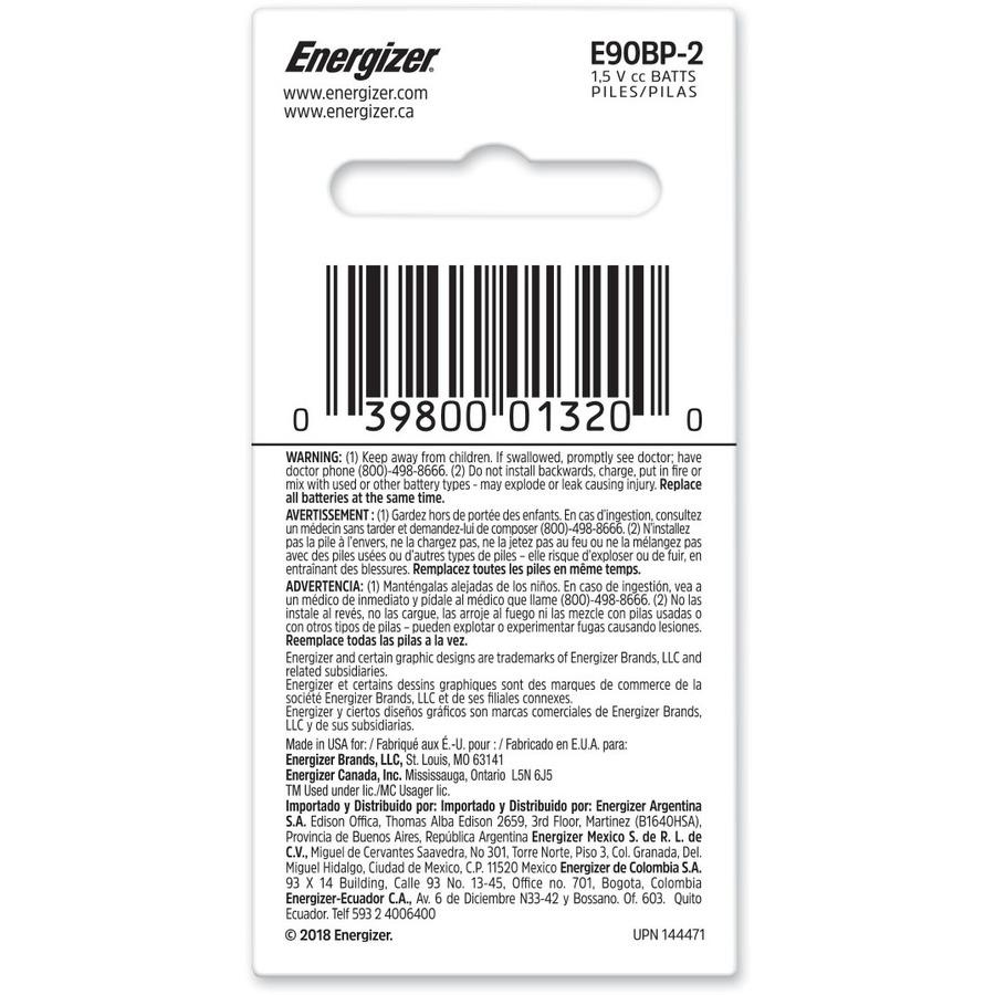 Energizer N Batteries 2 Pack
