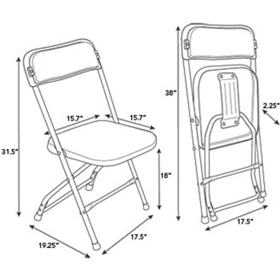 Samsonite Series Injection Mold Folding Chair