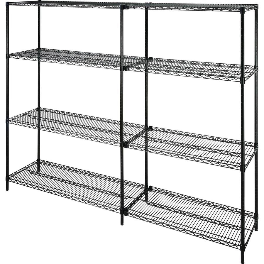 Lorell 2 Extra Shelves For Industrial 48 X18 Wire