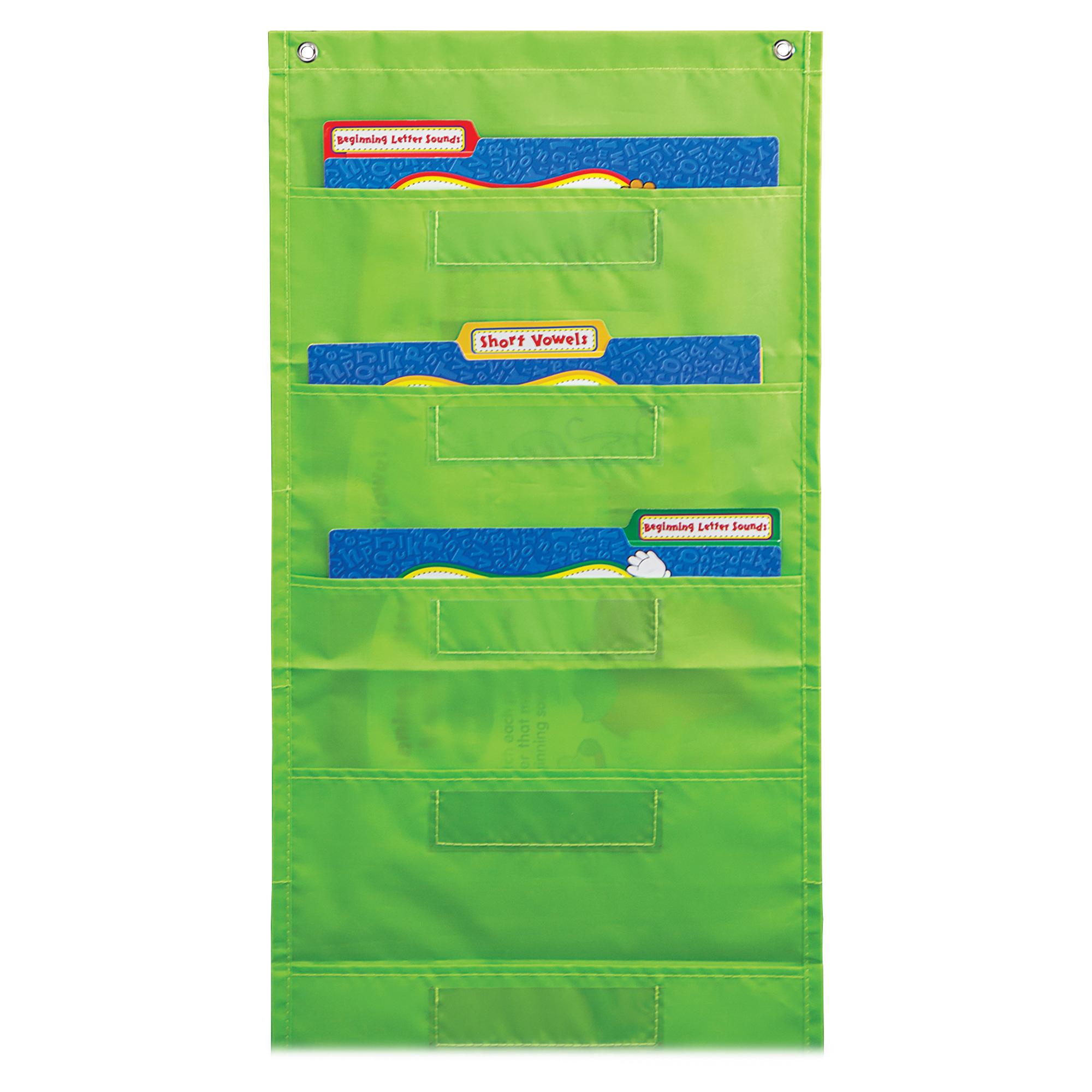 Carson Dellosa File Folder Storage Lime Pocket Chart