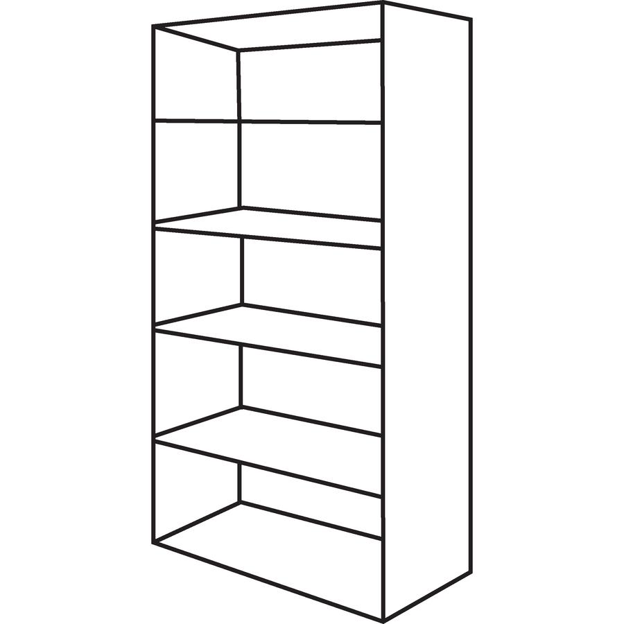 Bush Business Furniture Series C 36w 5 Shelf Bookcase Bsh