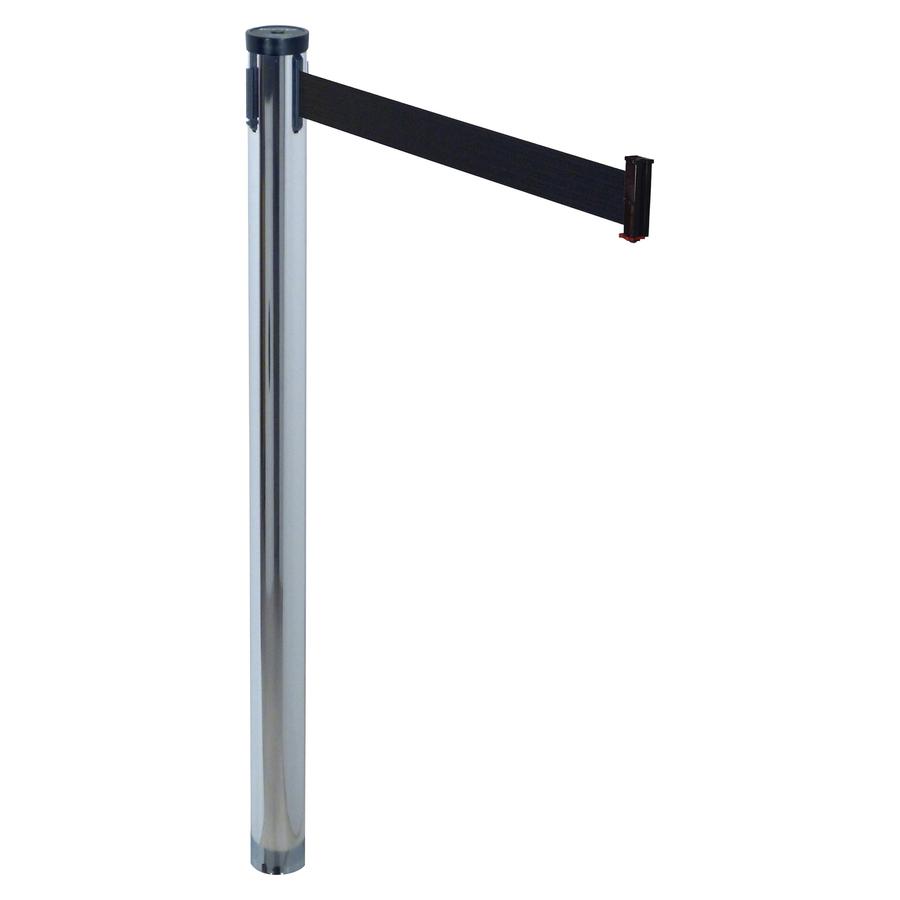 tatco adjusta tape stanchion post chrome plated 10 ft post black tape chrome