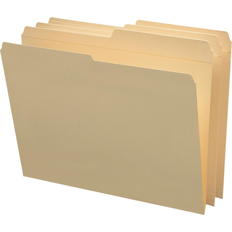 Smead Manila Folders With Reinforced Tab Smd