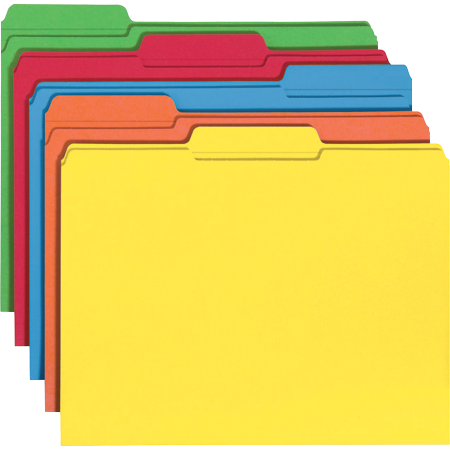 Smead Colored Folders With Reinforced Tab Smd