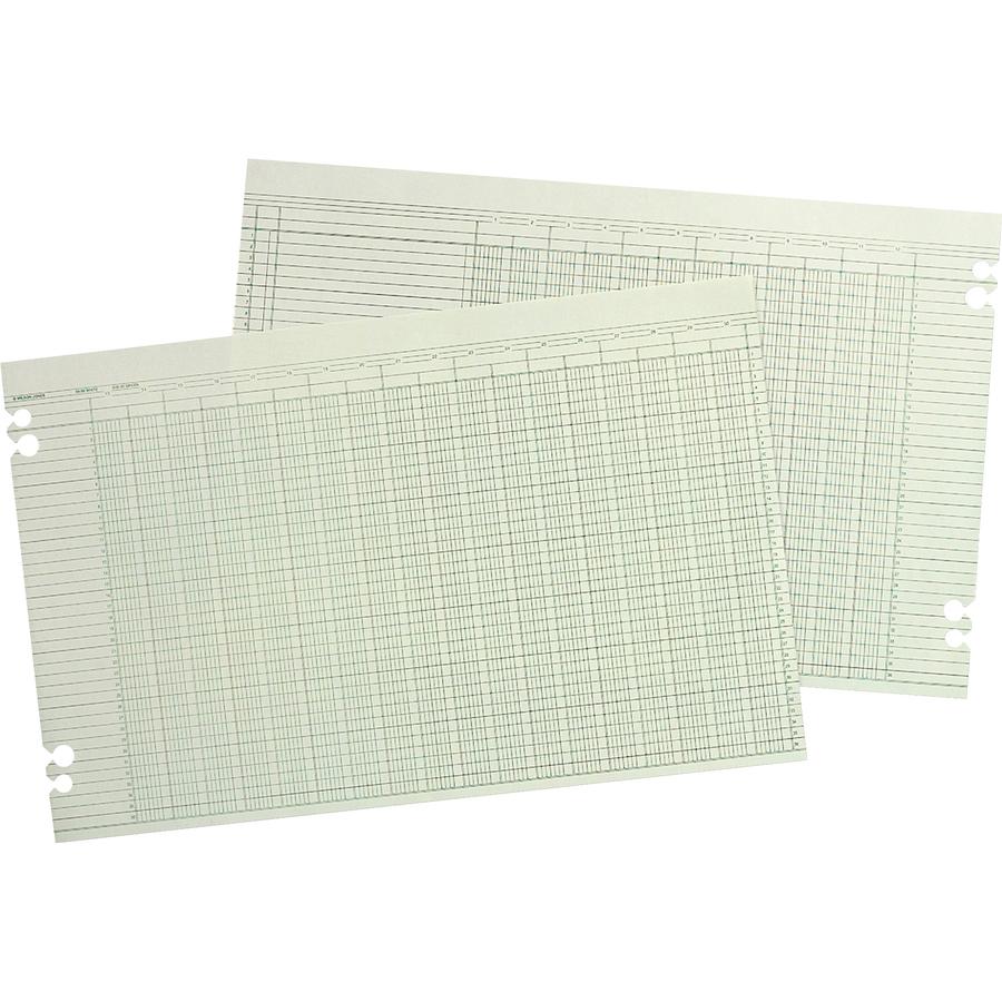 Wilson Jones Columnar Ruled Sheets 11 X 17 36 Lines 30 Columns 100 Pack Wlj G