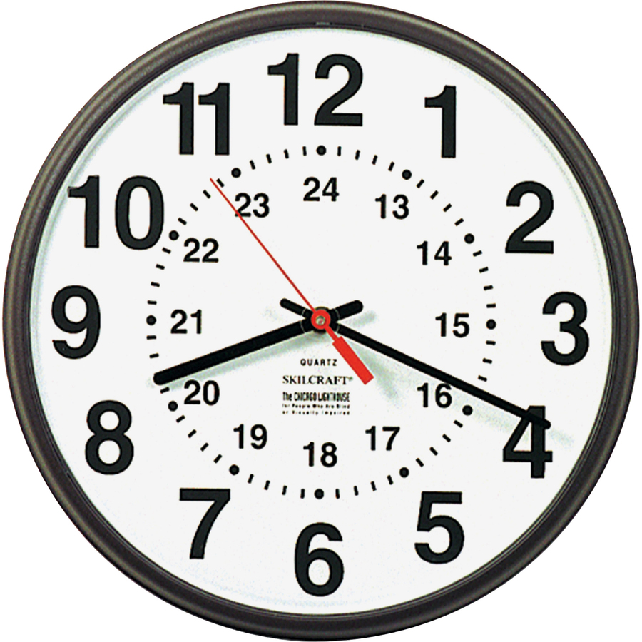 Skilcraft 12 24 Hour Wall Clock