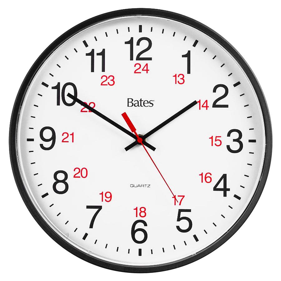Gbc Bates 12 24 Quartz Wall Clock Gbc
