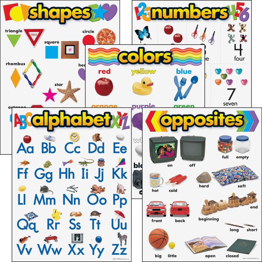 Bulk School Supplies Trend Kindergarten Learning Chart