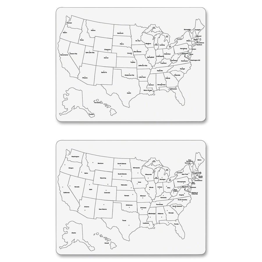 Chenille Kraft Large Usa Map Whiteboard