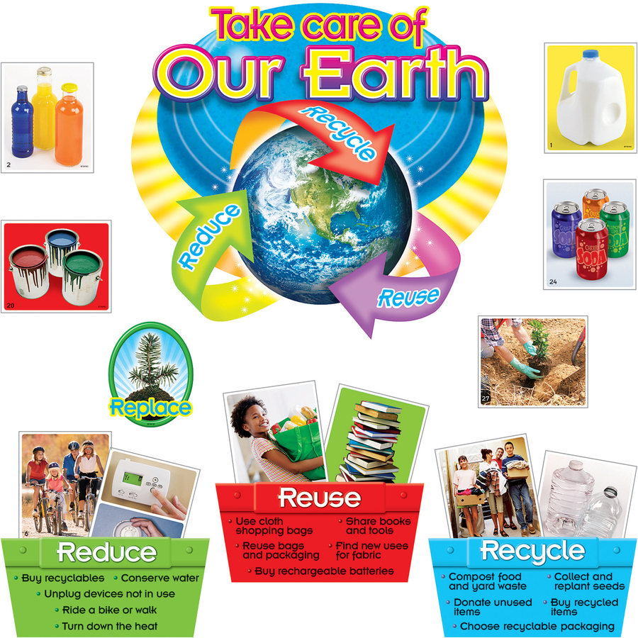 Trend Reduce Reuse Recycle Bulletin Board Set