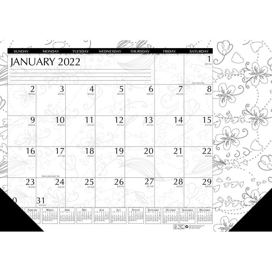 House Of Doolittle Doodle Monthly Desk Pad