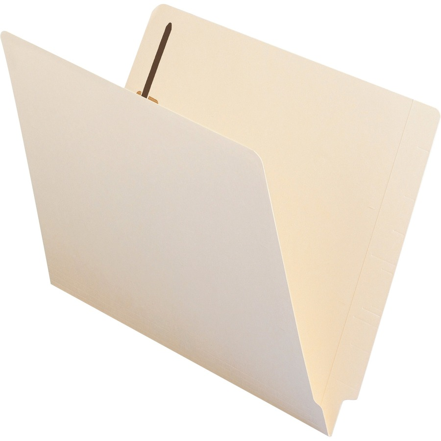 Smead 34215 End Tab Fastener Folder Letter Straight Cut