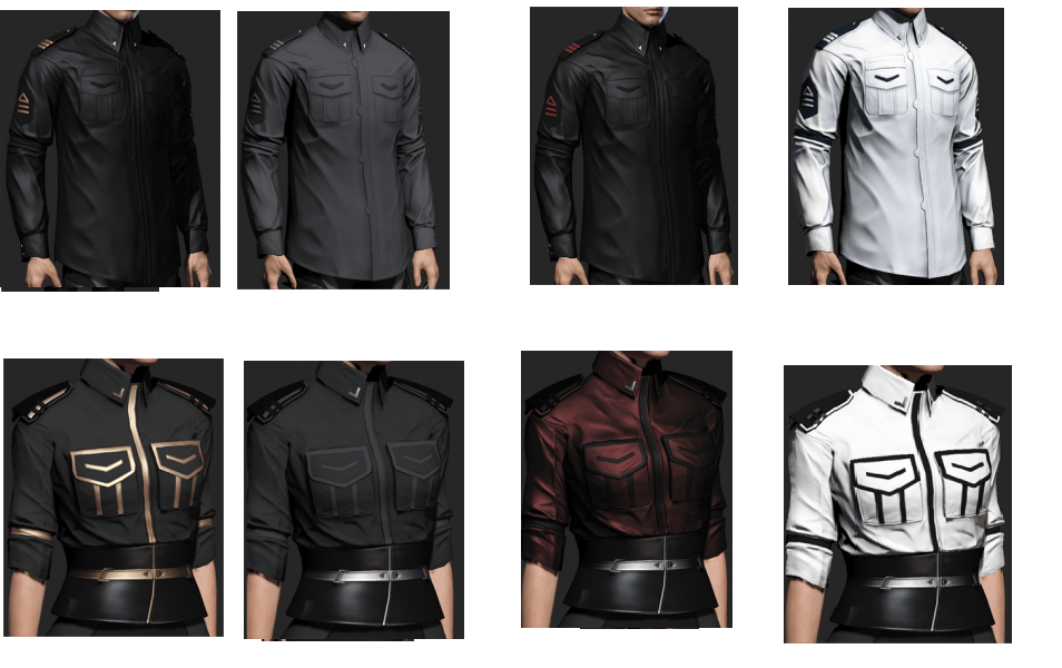 Overview of new clothes available