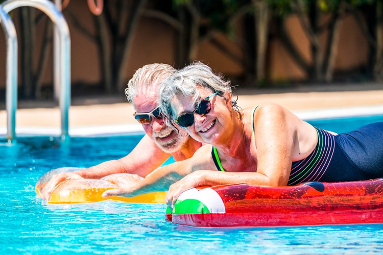 Holiday all year round - is an over 50s resort right for you couple swimming