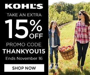 15% off Sitewide, valid 11/8-11/16