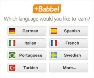 Babbel online course to teach yourself a language