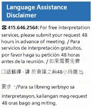 Language Disclaimer