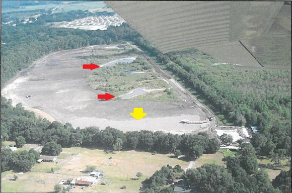 Aerial view of Lake Gwyn under construction, Photo courtesy of Polk County Natural Resources