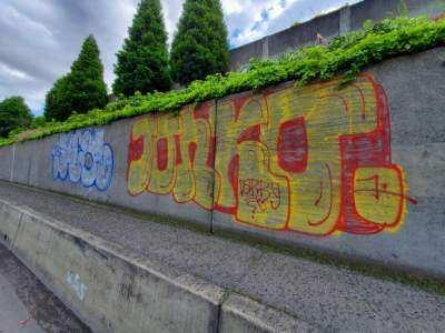 Graffiti on interstates