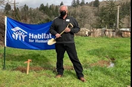 Rep. Gomberg at Habit for Humanity ground breaking