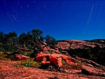 night sky at Enchanted Rock