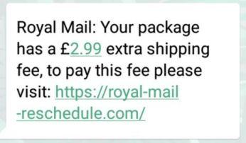 Fake Royal Mail text 4