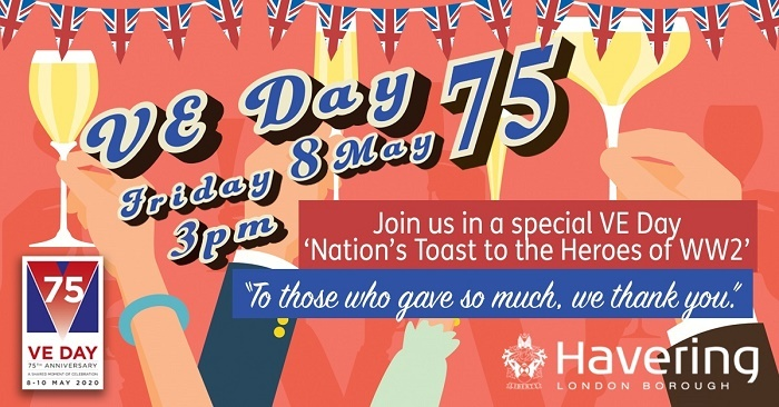 VE Day toast banner
