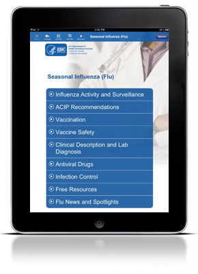 CDC Influenza Application for Clinicians and Health Care Professionals
