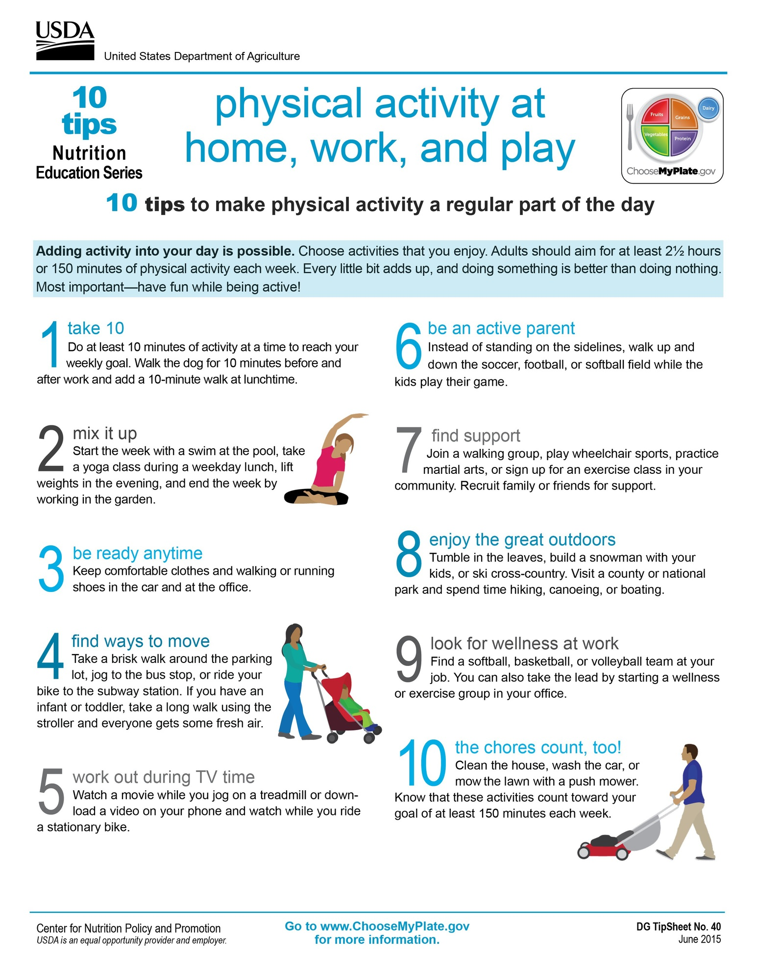Physical Activity At Home Work And Play 10 Tips