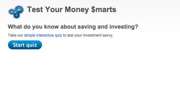 Interactive quiz on money knowledge