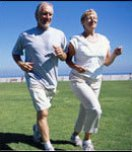 older adults jogging