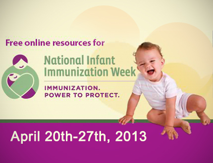 National Infant Immunization Week:  Find out about the power to protect with immunizations on http://www.vaccines.gov/