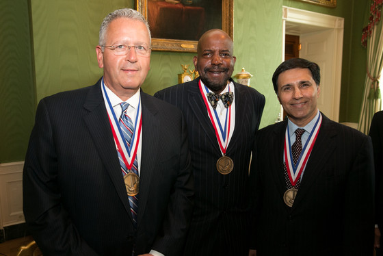 NMTI laureates Joseph DeSimone, Cato Laurencin, and Mark Humayun