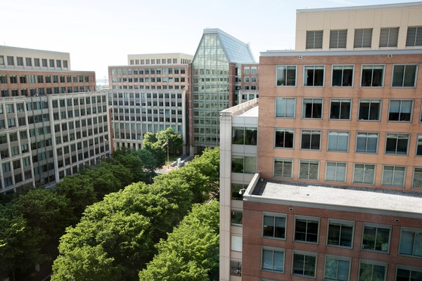 Image of the USPTO headquarters in Alexandria, Va.