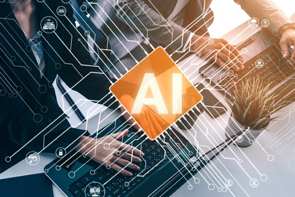 Artificial intelligence blog stock image