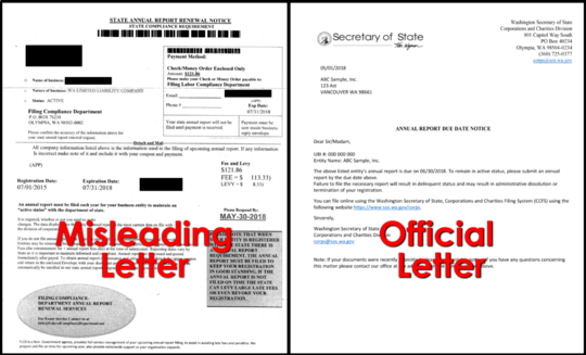 Misleading Letter vs. Official Letter