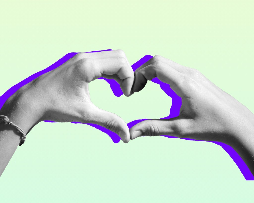 Two hands making the shape of a heart