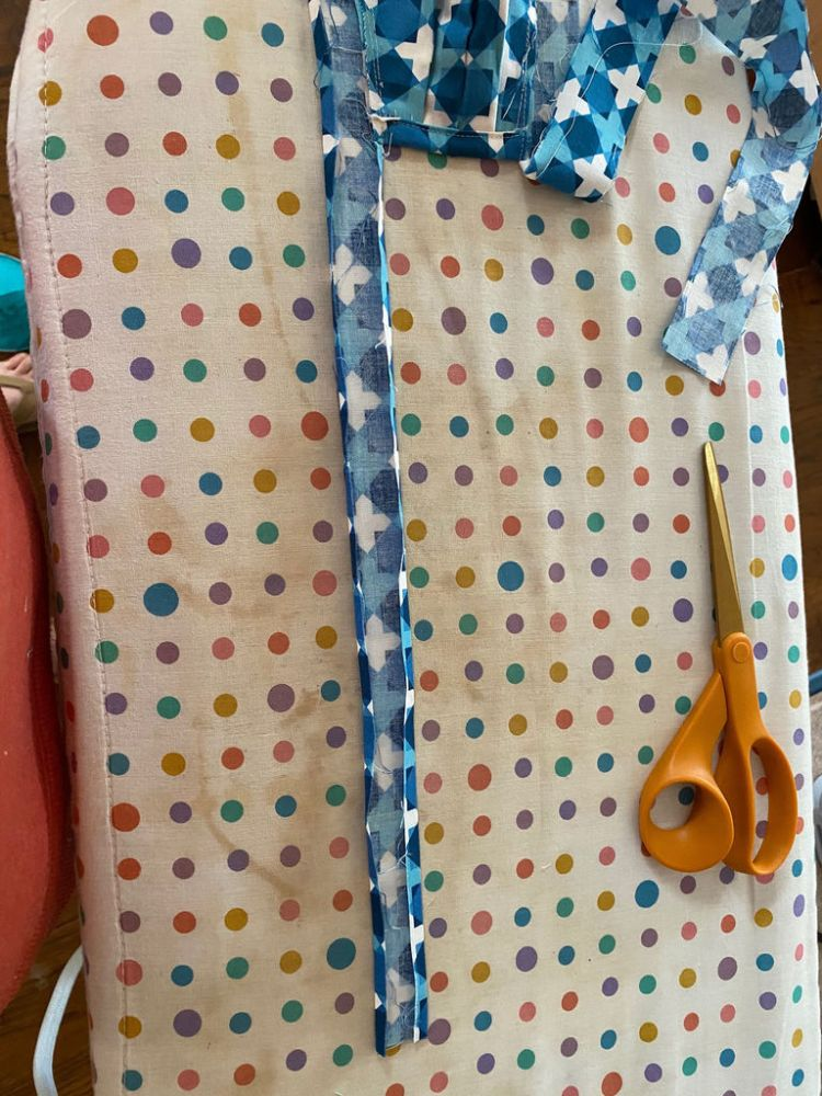 Finish Top/Bottom Binding and Ties